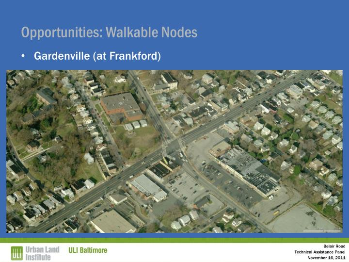 Opportunities: Walkable Nodes