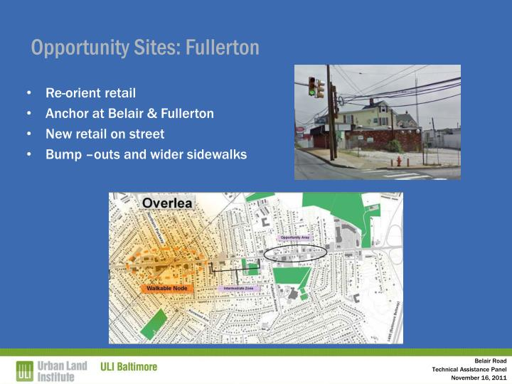 Opportunity Sites: Fullerton