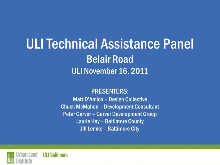 ULI Technical Assistance Panel