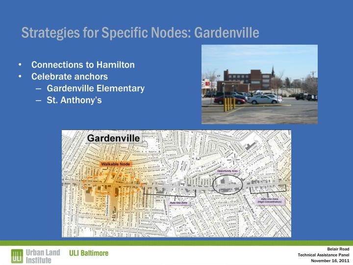 Strategies for Specific Nodes: Gardenville