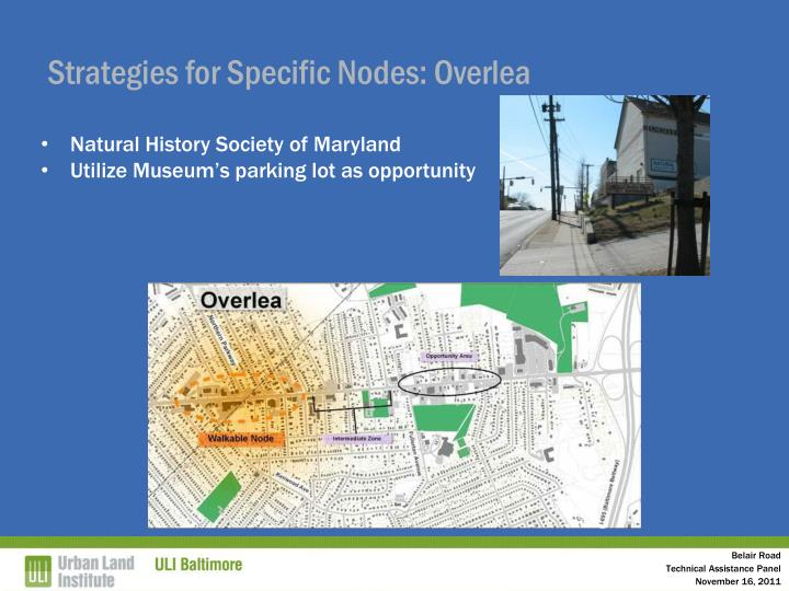 Strategies for Specific Nodes: Overlea