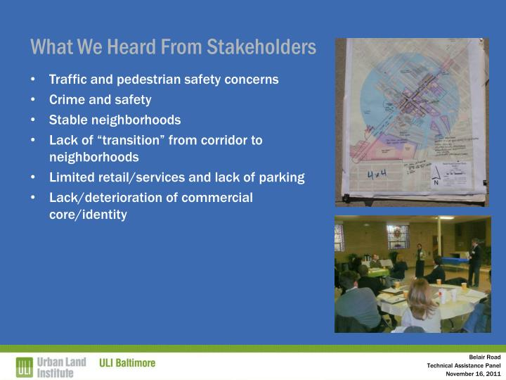 What We Heard From Stakeholders