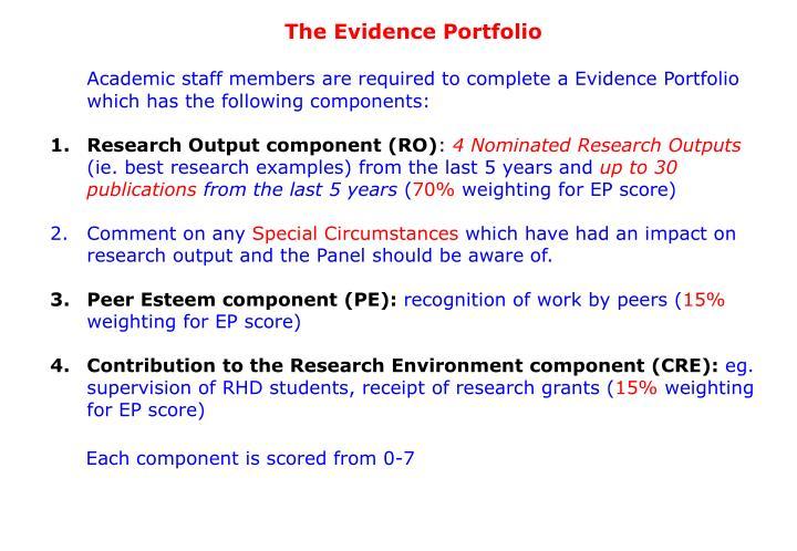 The Evidence Portfolio