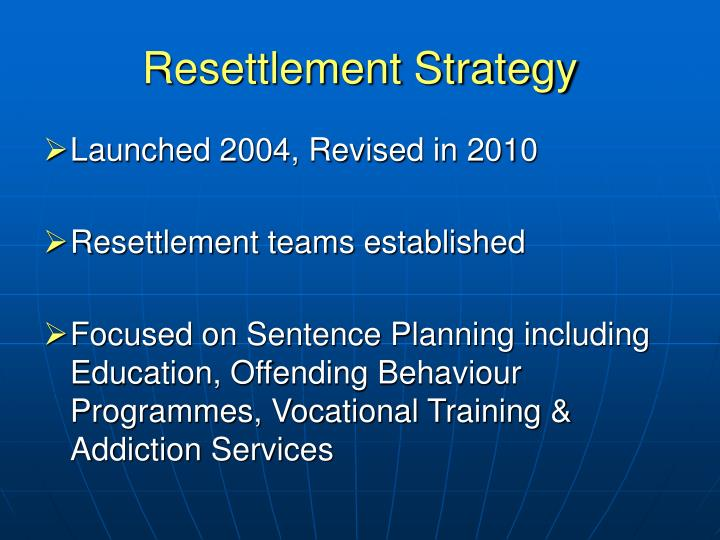 Resettlement Strategy