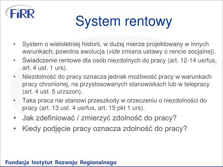 System rentowy