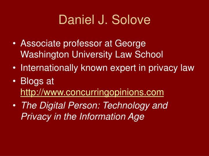 Daniel J. Solove