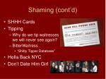 shaming cont d