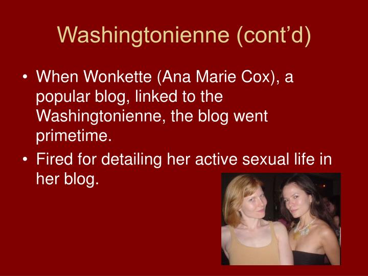 Washingtonienne (cont'd)