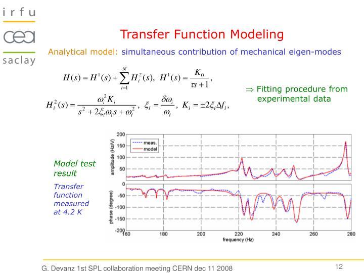 Transfer Function Modeling
