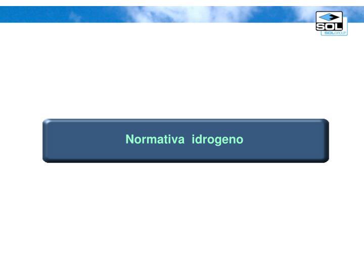 Normativa  idrogeno