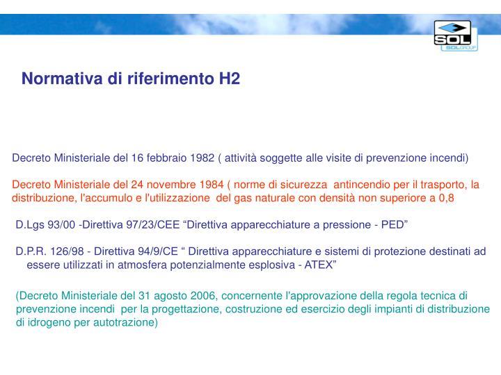 Normativa di riferimento H2