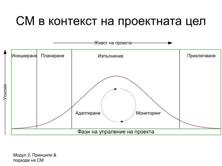 СМ в контекст на проектната цел