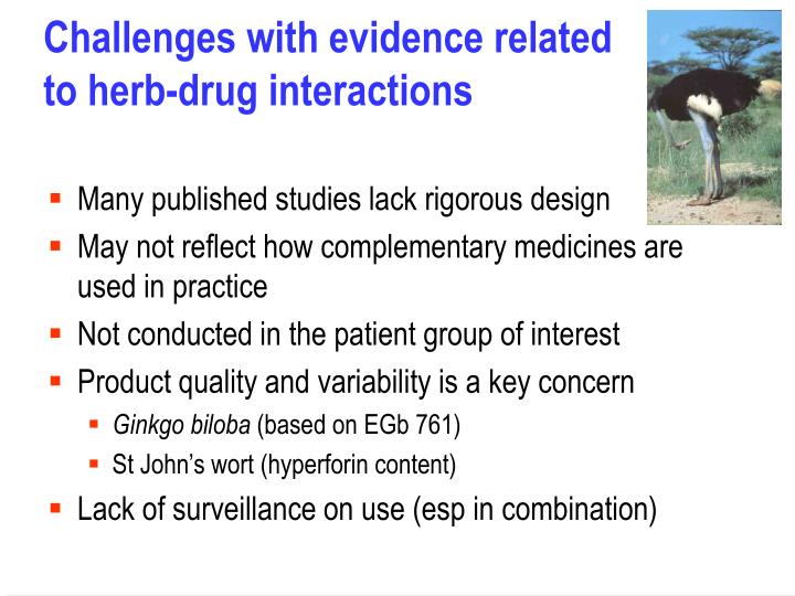 Challenges with evidence related