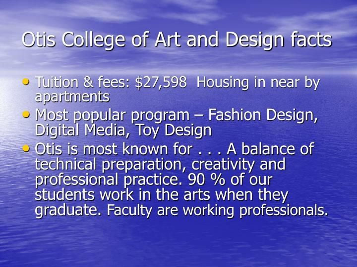 Otis College of Art and Design facts