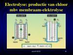 electrolyse productie van chloor mbv membraam elektrolyse