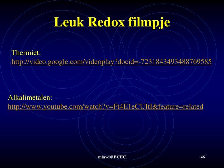 Leuk Redox filmpje