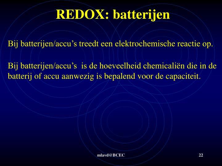 REDOX: batterijen