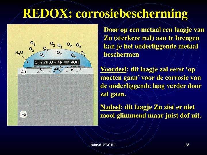 REDOX: corrosiebescherming