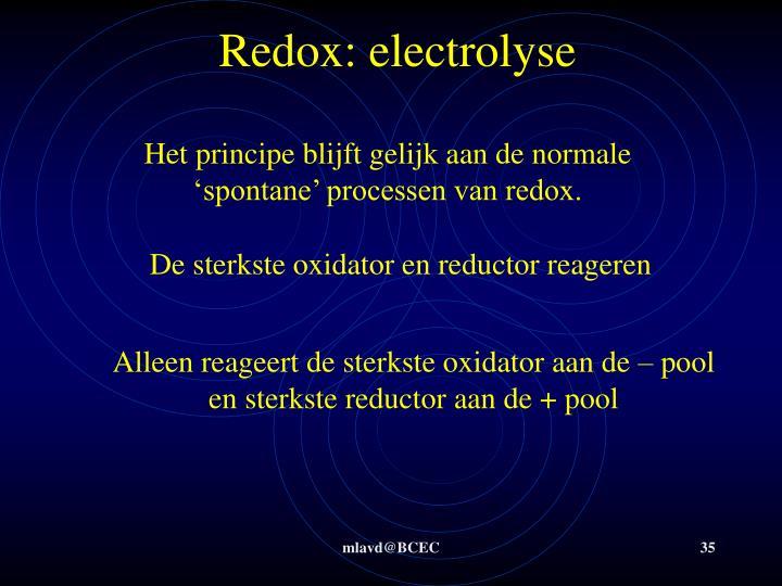 Redox: electrolyse
