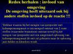 redox herhalen invloed van omgeving4