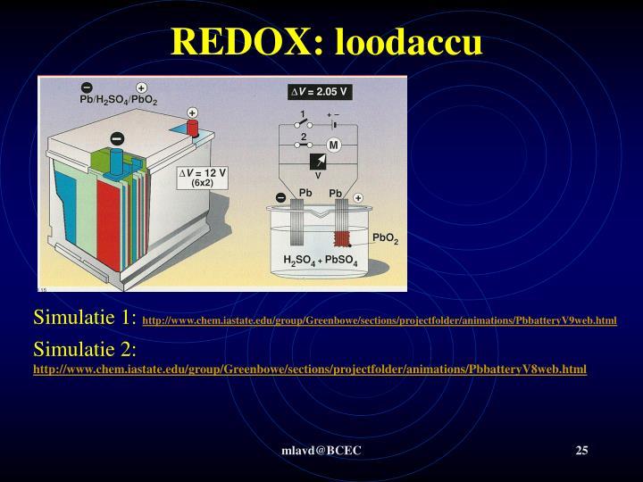 REDOX: loodaccu