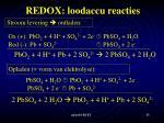 redox loodaccu reacties