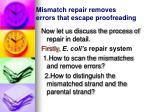 mismatch repair removes errors that escape proofreading