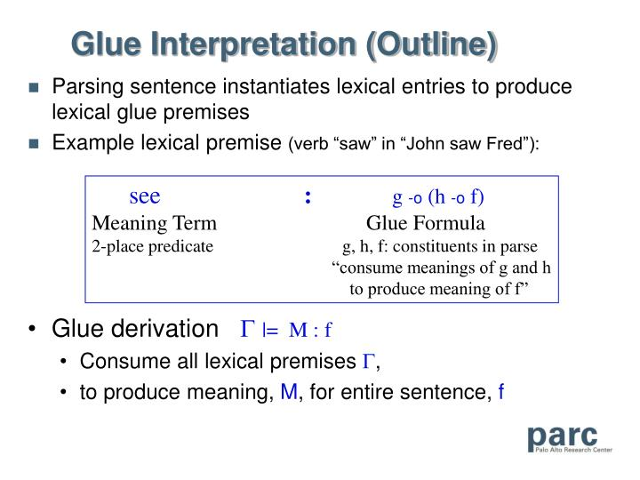 Glue Interpretation (Outline)