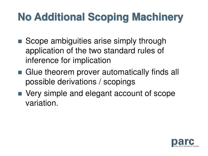 No Additional Scoping Machinery
