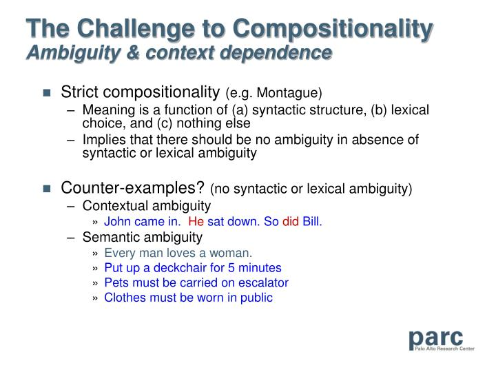 The Challenge to Compositionality