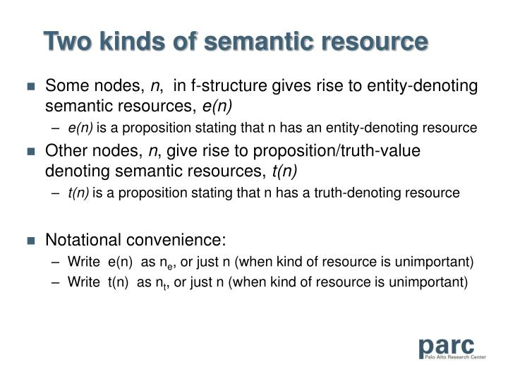 Two kinds of semantic resource