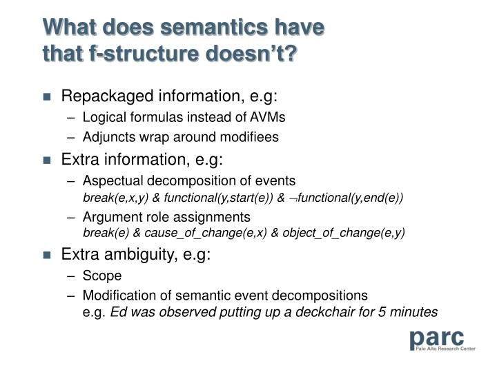 What does semantics have