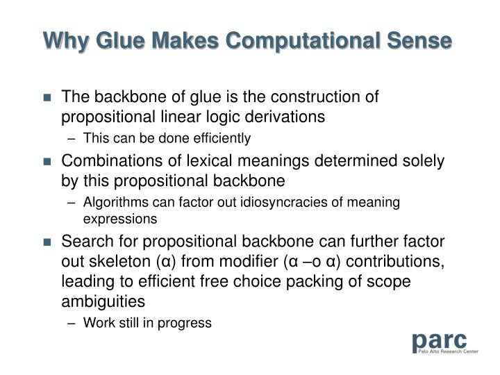 Why Glue Makes Computational Sense