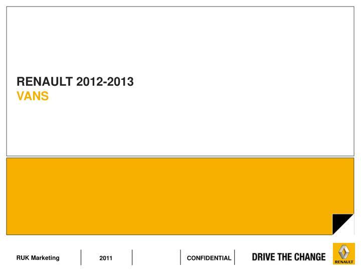 RENAULT 2012-2013