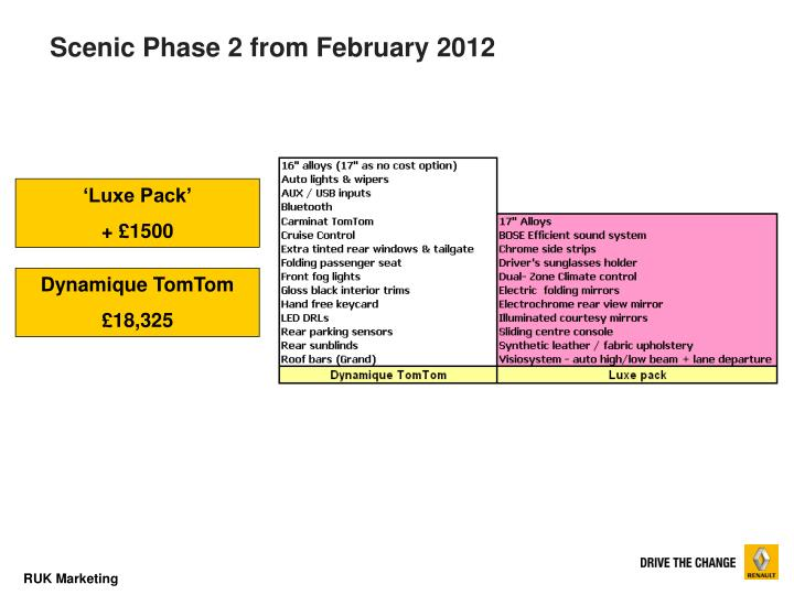 Scenic Phase 2 from February 2012