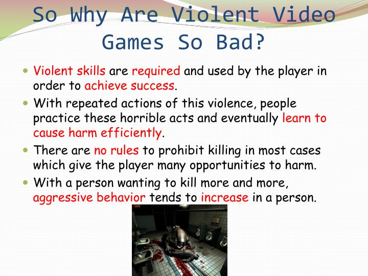 So Why Are Violent Video Games So Bad?