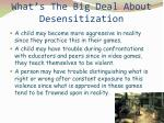 what s the big deal about desensitization
