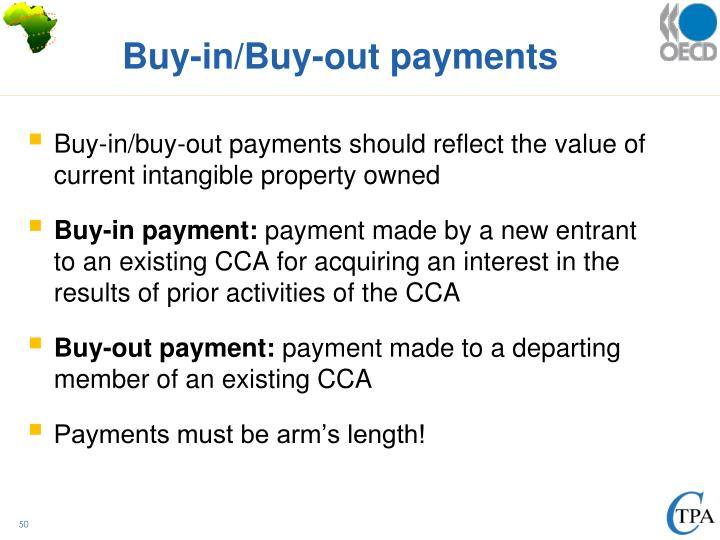 Buy-in/Buy-out payments