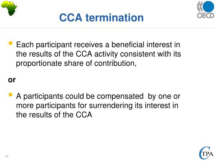 CCA termination