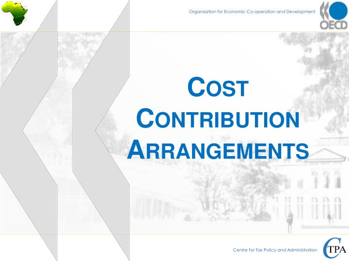 Cost Contribution Arrangements