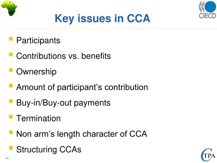 Key issues in CCA