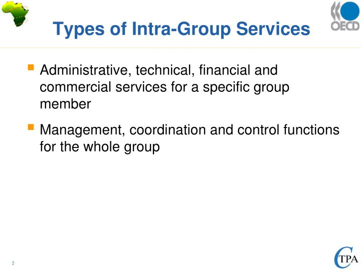 Types of Intra-Group Services