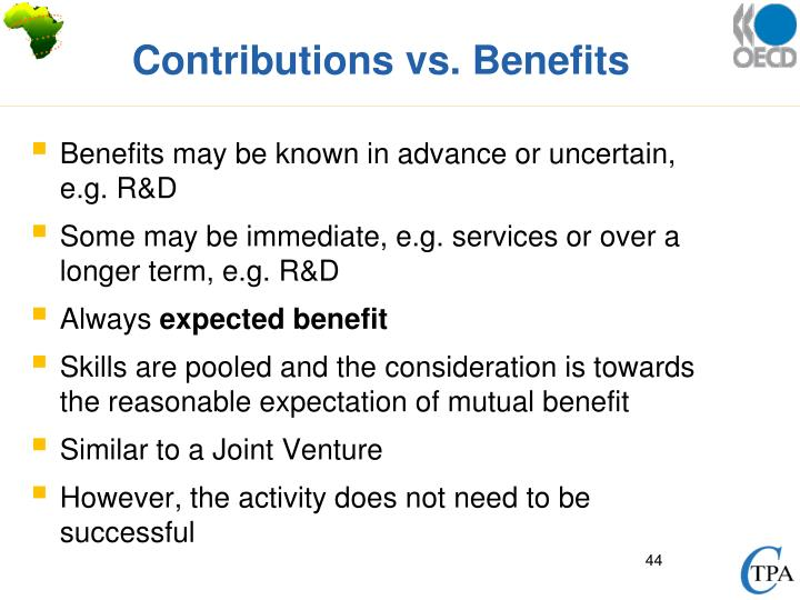 Contributions vs. Benefits