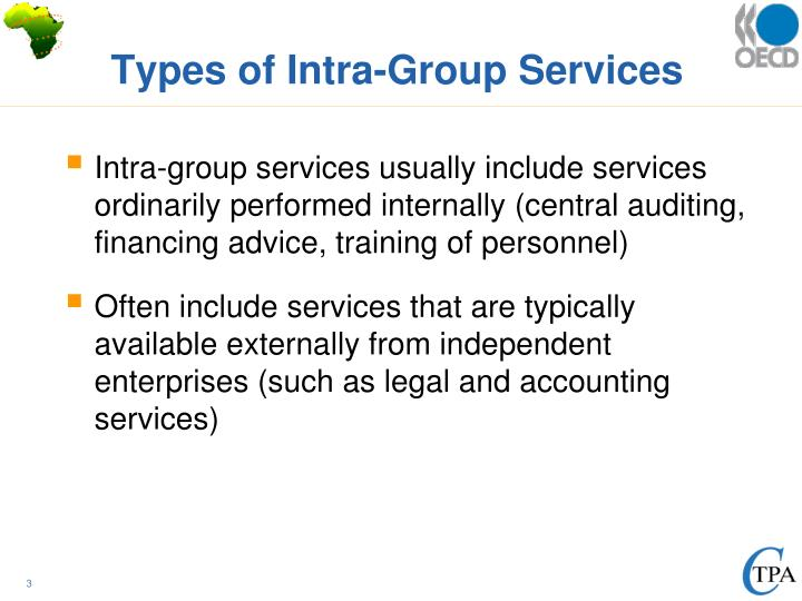 Types of intra group services