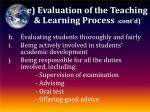 e evaluation of the teaching learning process cont d3