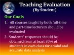 teaching evaluation by student