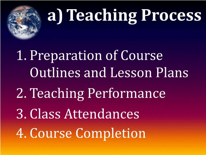 Teaching Process