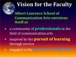 vision for the faculty