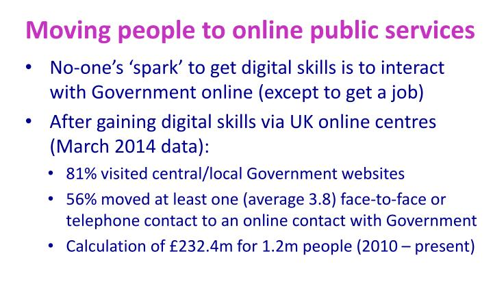 Moving people to online public services