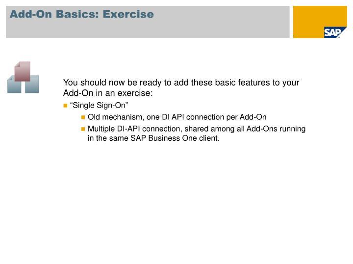 Add-On Basics: Exercise